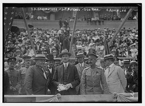 Clawson Roop - Image: B.A. Bakhmetieff, J.P. Mitchel, Gen. Roop, R. Adamson in 1917