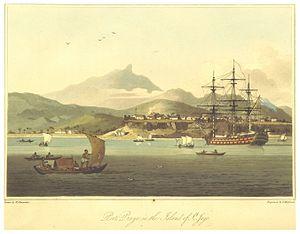 Platô - Porto Praia (now Praia) and the Plateau in 1806