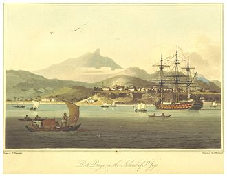 Plateau (Praia) - Porto Praia (now Praia) and the Plateau in 1806