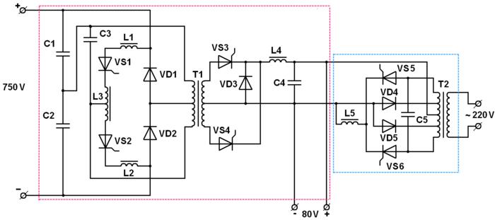 Принципиальная схема БПСН-5У2М