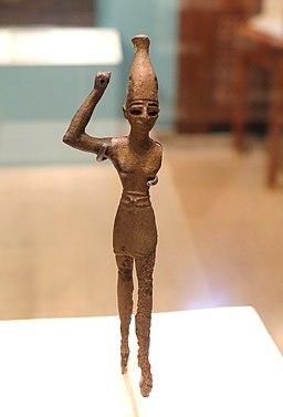 Baal, God of Fertility and Storms, Megiddo, Strata IX-VII, Late Bronze Age, 1550-1200 BC, bronze - Oriental Institute Museum, University of Chicago - DSC07738
