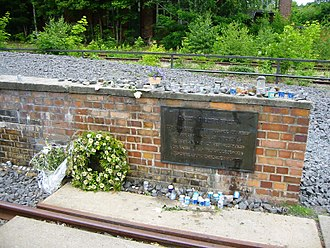 Grunewald - Memorial plaque, Berlin-Grunewald station