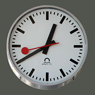 Clock - The Swiss railway clock.