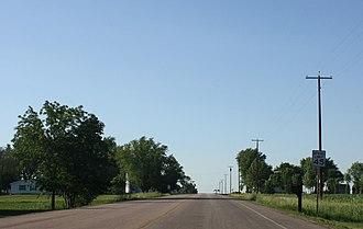 Bakerville, Wisconsin - Looking north