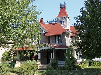 National Register of Historic Places listings in east Davenport, Iowa - Image: Ball Waterman House