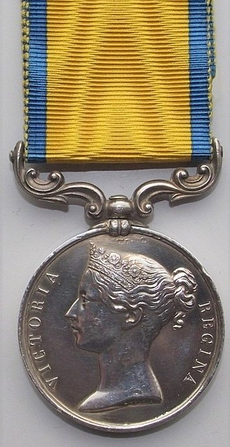 Baltic Medal - Image: Baltic Medal 1854 55 (Obverse)