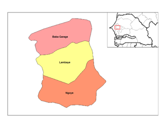 Bambey Department - Map of the department arrondissements
