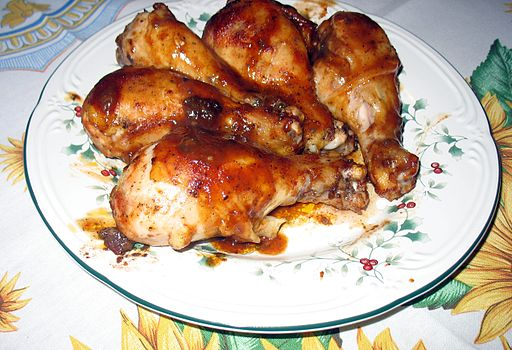 Barbecued chicken drumsticks-02