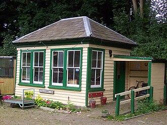Elham Valley Railway - Barham Signal Box, preserved on the East Kent Railway