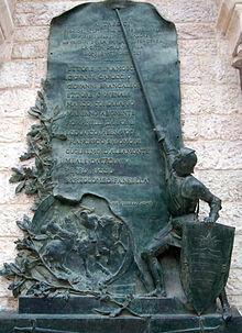Particolare del Monumento alla Disfida a Barletta.