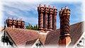 Barleycorn Twist Chimneys at Wightwick Manor, Wolverhampton (47968847903).jpg