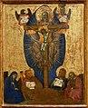 Barnaba da modena, incoronazione della vergine, trinità, madonna col bambino e crocifissione, 1374, 03.jpg