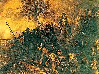 Fredrick II at the Battle of Hohkirch