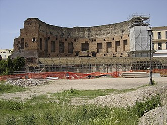 Domus Aurea - The Domus Aurea still lies under the ruins of the Baths of Trajan (shown here) and the surrounding park.