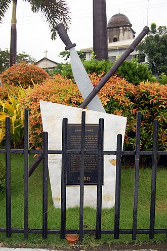 Battle of Imus - Marker for the Battle of Imus at the City Plaza.