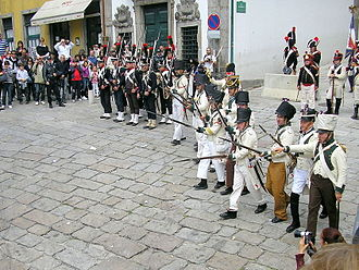 First Battle of Porto - Battle of Porto reenactment, in 2009.