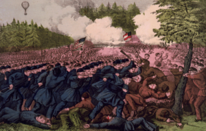 The Battle of Fair Oaks, Va. af Currier and Ives (1862).