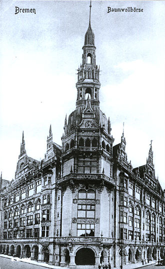 Bremen Cotton Exchange - Original building,1908