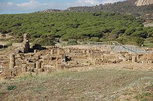 Baelo Claudia - The ruins of Baelo Claudia lie along the beach of Bolonia.