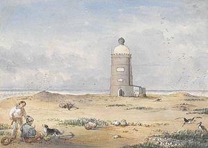 Raine Island Beacon - Beacon built at Raines Islet by Edwin Augustus Porcher, 1844