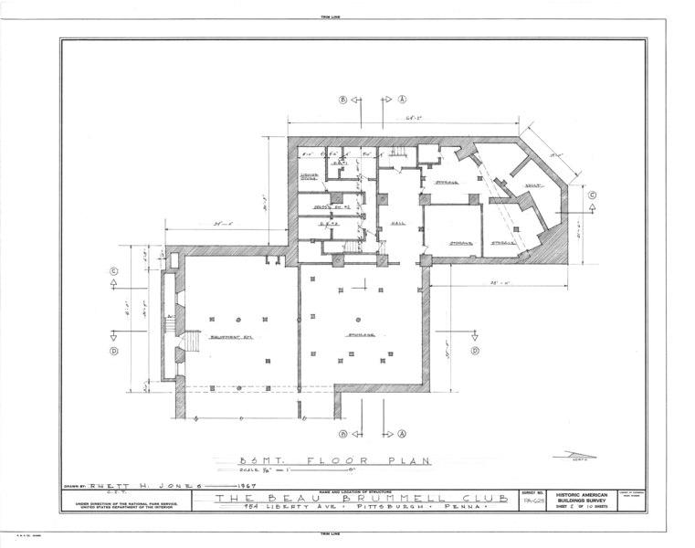 File:Beau Brummell Club, 954 Liberty Avenue, Pittsburgh, Allegheny County, PA HABS PA,2-PITBU,30- (sheet 2 of 10).tif