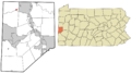 Beaver County Pennsylvania incorporated and unincorporated areas Darlington highlighted.png