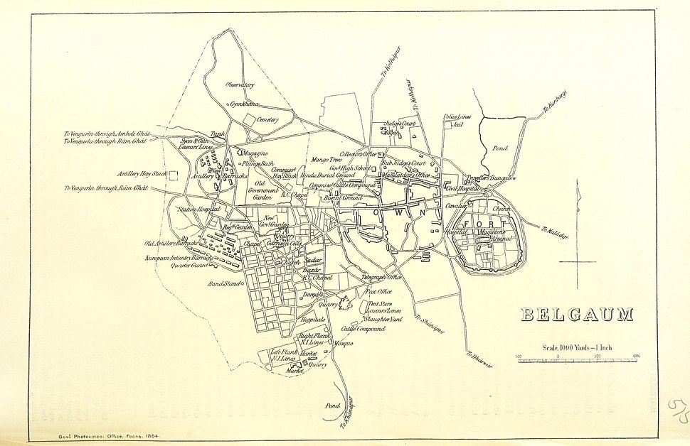 Belgaum city 1896