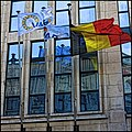 Belgian Flag Against Mirrored Windows - panoramio.jpg