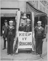 Bell ringers on Seattle, Washington, streets during 4th Liberty Loan. Bells were afterwards muffled, as a reproach, subs - NARA - 533668.tif