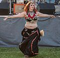 Belly dancer at the 2012 Las Vegas Age of Chivalry (8104145087).jpg