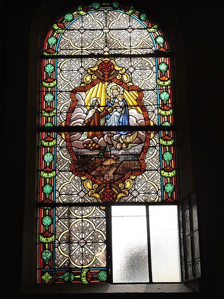 Belrupt-en-Verdunois (Meuse) église vitrail