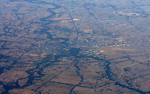 Benalla - Aerial view from the east