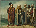 Benjamin West - The Ambassador from Tunis with His Attendants as He Appeared in England in 1781 - 55.932 - Museum of Fine Arts.jpg