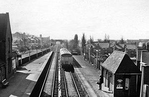 Benton Metro station - Benton railway station in 1970