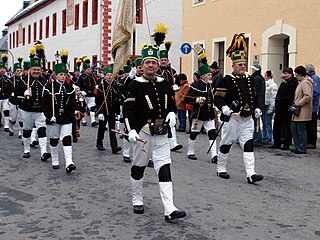 Miners parade