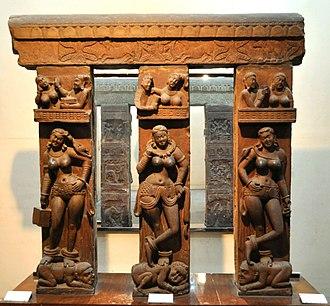 Yakshini - The Bhutesvara Yakshis, Mathura, 2nd century CE.
