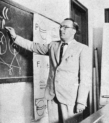 Bibiano Fernández Osorio-Tafall, conferencia en 1935