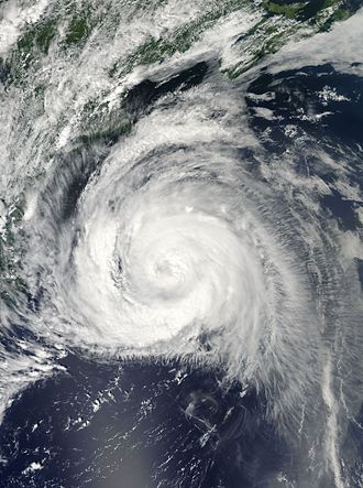 Hurricane Bill (2009) - Hurricane Bill off the east coast of the United States on August 22