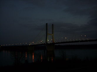Bill Emerson Memorial Bridge - Bill Emerson Bridge at night.