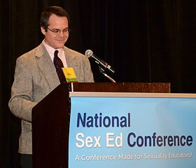 Bill Taverner speaking at the National Sex Ed Conference 2014-04-05 07-45.jpg