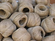 Rolls of pack-twine for binding parcels