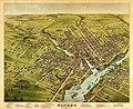 Bird's eye view of the City of Bangor, Penobscot County, Maine, 1875 LOC 83694326.jpg