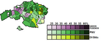 Biscay (Congress of Deputies constituency) - Image: Biscay Municipal Map Congress 2016
