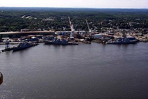 Bath Iron Works - Bath Iron Works from NAS Brunswick photo gallery