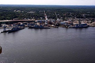 Bath Iron Works American shipyard located on the Kennebec River in Bath, Maine