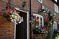 Black Horse Inn patio flowers in Nuthurst West Sussex England.jpg