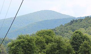 Black Mountain (Georgia) Mountain on the border of Dawson and Gilmer counties, Georgia, USA
