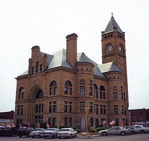 Das Blackford County Courthouse in Hartford City, gelistet im NRHP Nr. 80000053[1]