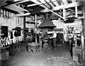 Blacksmith shop, Puget Mill Co, Port Gamble, Washington, December 1918 (INDOCC 526).jpg