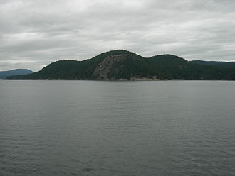 Blakely Island, Washington - Blakely Island, seen from Washington State Ferry en route from Lopez Island to Anacortes through Thatcher Pass.